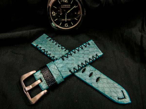 SNAKE LEATHER STRAP FOR PANERAI - IGUAZU