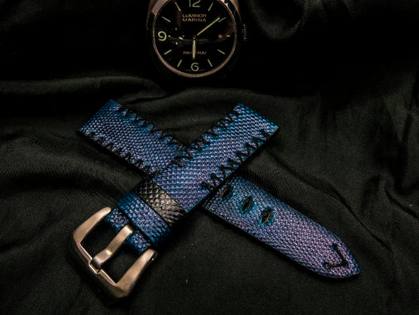 SNAKE LEATHER STRAP - STOWE