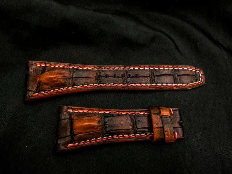 CROCODILE LEATHER STRAP - MATHESON