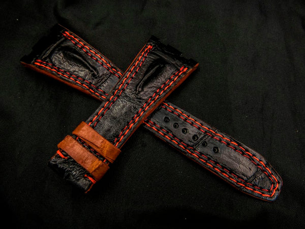 CROCODILE LEATHER STRAP - LEONIDAS