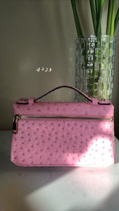 CLEAR AE - LEATHER BAG - PINK