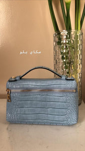 CLEAR AE - LEATHER BAG - BLUE