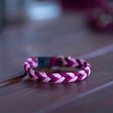 Small cat collar Paracord in Burgundy and pink colours by Native Collars (5181971759244)