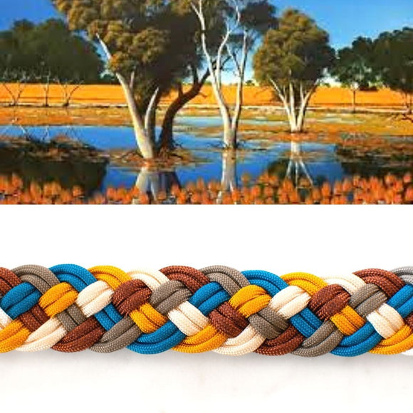 Coopers Creek Paracord Collar Native Collars Paracord Collar made from 5 strands handmade (4819729186956)