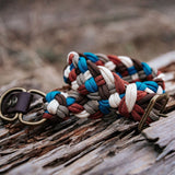 Darling Paracord Collar Native Collars made from 5 colours on wooden log (4819731447948)