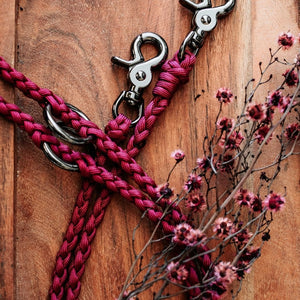Multi-Functional Leash Light-weight Native Collars Burgundy Antique Brass  (5066252288140)