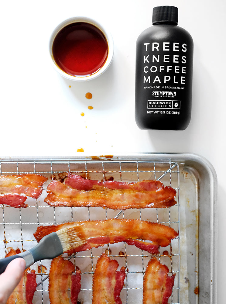 Coffee Maple Candied Bacon