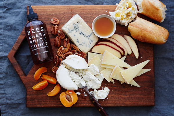 Bees Knees Spicy Honey Cheese Plate