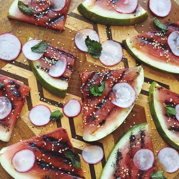 Grilled Watermelon Salad with Spicy Honey – Bushwick Kitchen