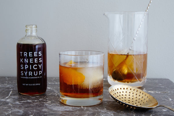 Trees Knees Spicy Syrup Old Fashioned