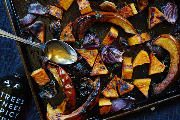Trees Knees Spicy Syrup Roasted Vegetables