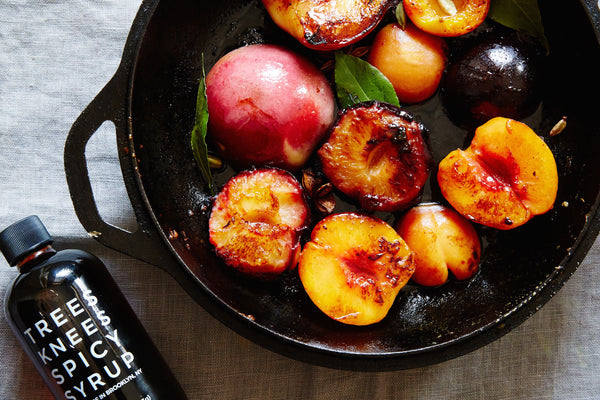 Trees Knees Spicy Syrup Roasted Stone Fruit