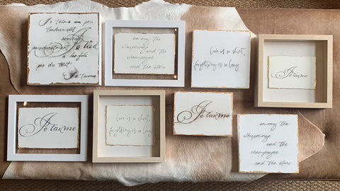 Neruda Inspired Squares-One of a Kind