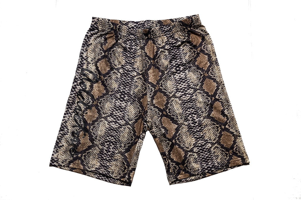 "Addictive ""Snakeskin"" Biker Shorts"