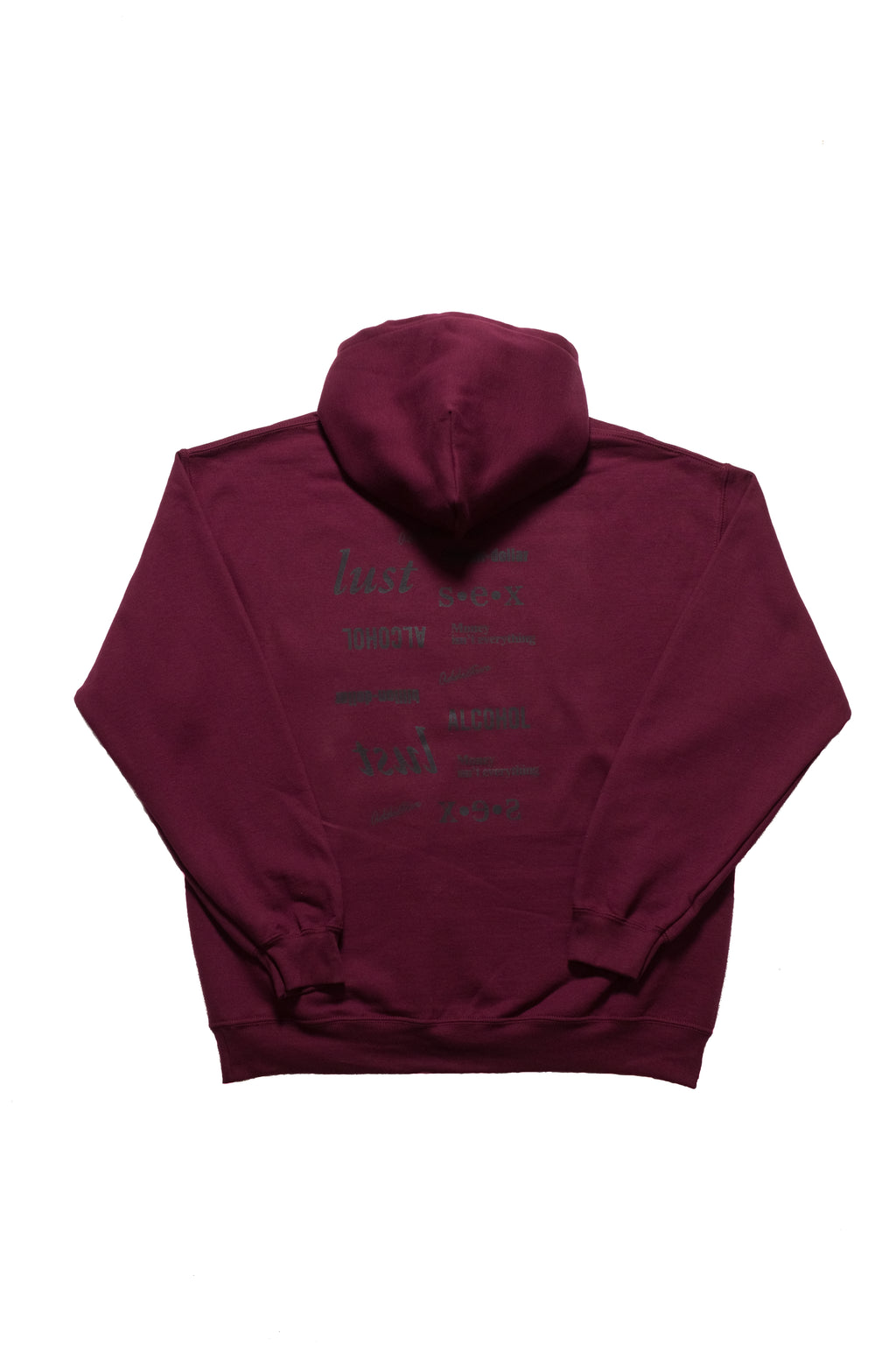 "Addictive""Maroon"" Vices Pullover Hoodie"