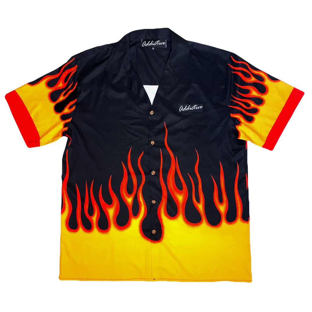 "Addictive ""Flames"" Print Shirt"