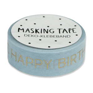 Masking Tape Happy Birthday