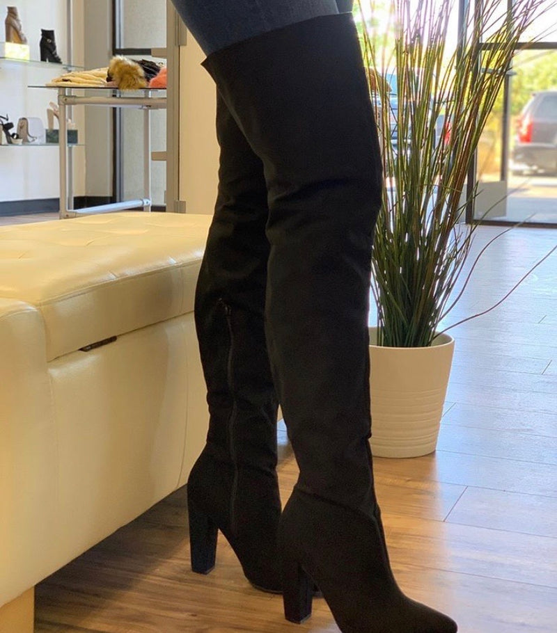 Diva thigh high boots