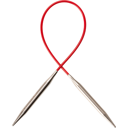 Red Lace Circular Needle