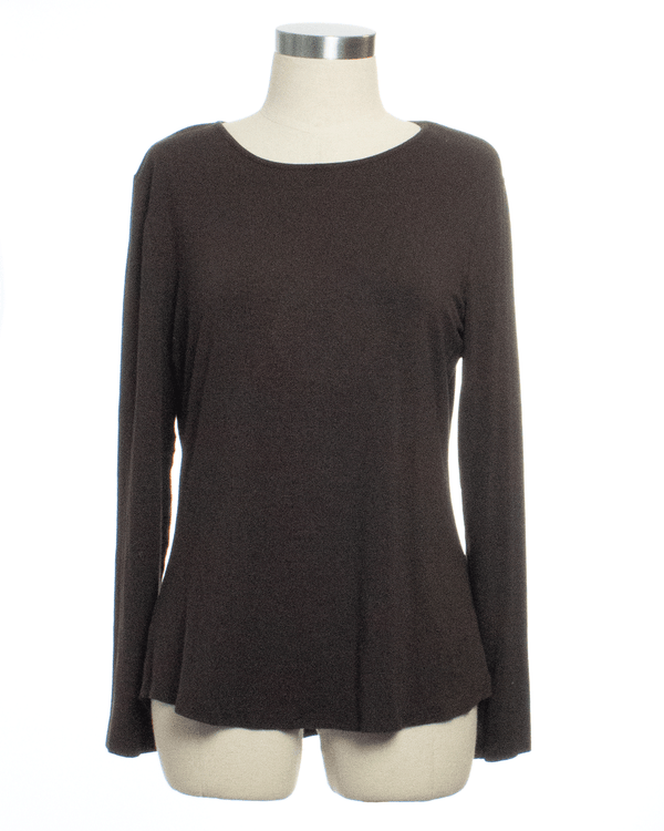 Chico's Size S Brown Long Sleeve Top