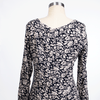 Lucca Couture Size M Navy Print Long Sleeve Top