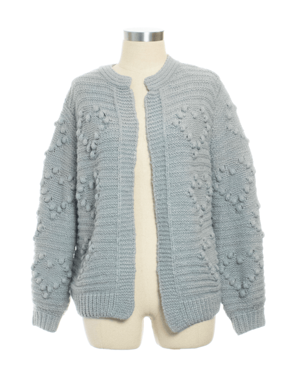 June & Ivy Size M Gray Cardigan