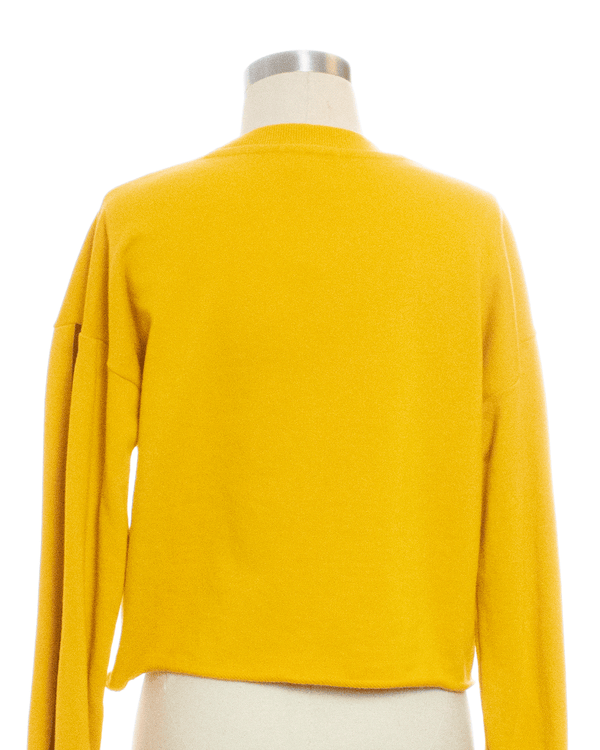 Forever 21 Size S Yellow Print Sweater