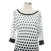 White House Black Market Size M Black Print Sweater