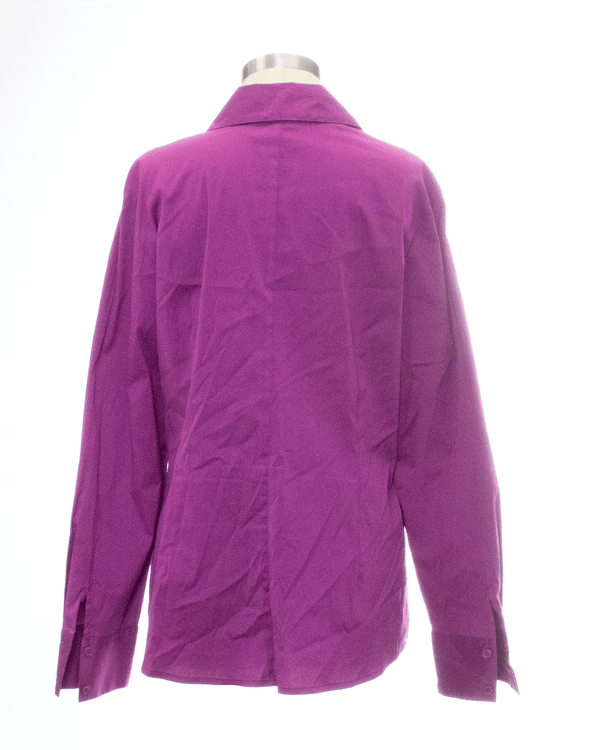 Alfani Size 14 Purple Long Sleeve Top