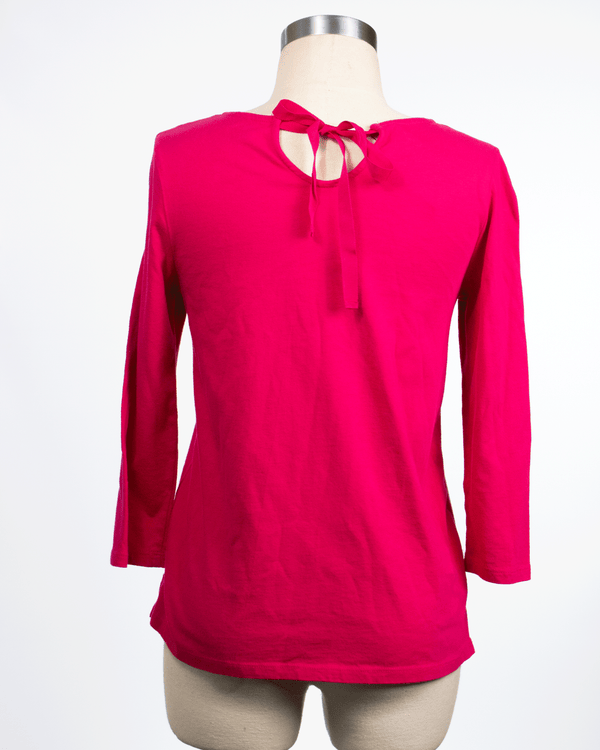 Talbots Size Petite Pink Long Sleeve Top