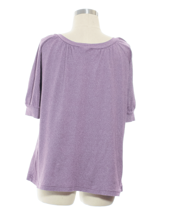 Michael Stars Size M Purple Short Sleeve Top