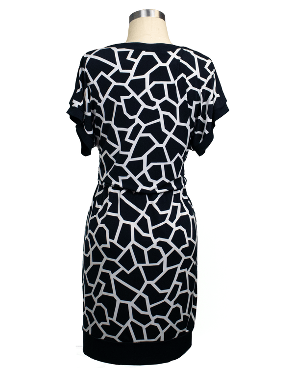 Alfani Size S Black & White Dress