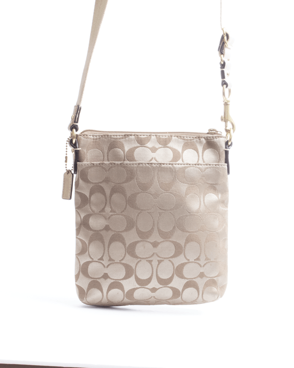 Coach Beige Crossbody Bag