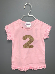Glitter Number Tee by Tassels