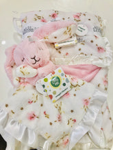 Load image into Gallery viewer, Little Me rose print bunny blanky