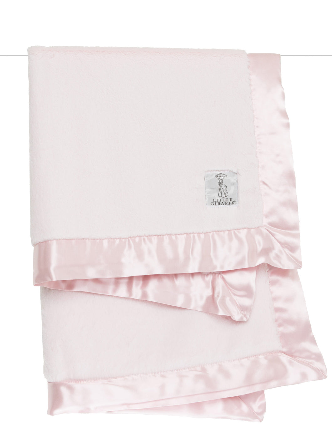 Little Giraffe Pink Luxe Blanket