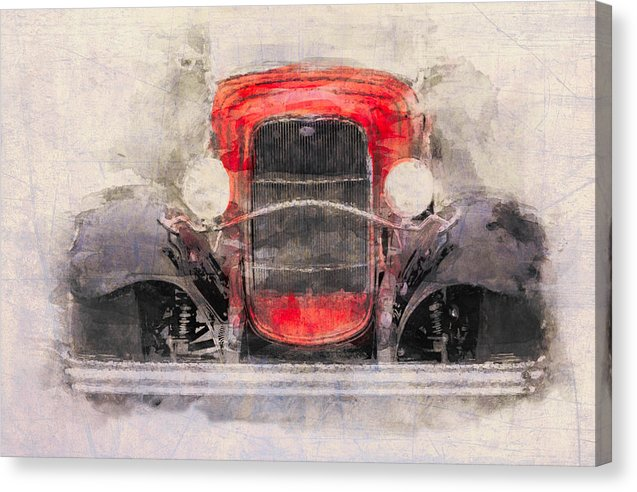1932 Ford Roadster Red And Black - Canvas Print