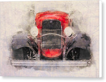 Load image into Gallery viewer, 1932 Ford Roadster Red And Black - Canvas Print