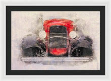 Load image into Gallery viewer, 1932 Ford Roadster Red And Black - Framed Print