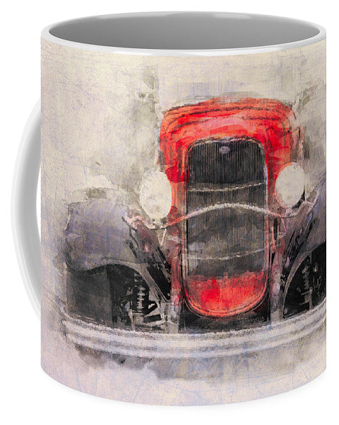 1932 Ford Roadster Red And Black - Mug
