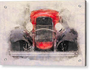 1932 Ford Roadster Red And Black - Acrylic Print