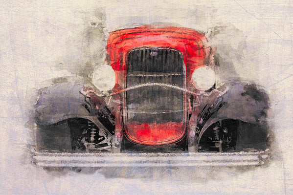 1932 Ford Roadster Red And Black - Art Print