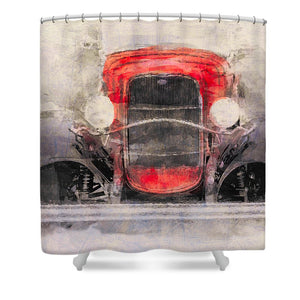 1932 Ford Roadster Red And Black - Shower Curtain