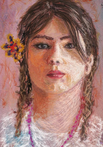 "Signed Fine Art Giclee Print (Mexican Girl) 24""x36"""