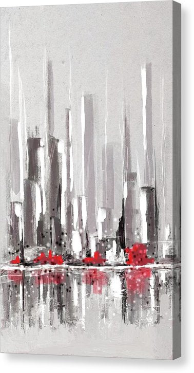 Abstract Cityscape Painting - 1 - Canvas Print