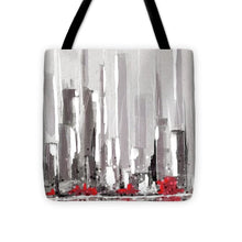 Load image into Gallery viewer, Abstract Cityscape Painting - 1 - Tote Bag