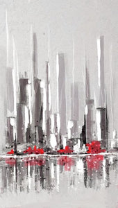 Abstract Cityscape Painting - 1 - Art Print