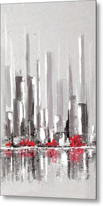 Abstract Cityscape Painting - 1 - Metal Print