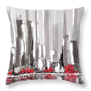 Abstract Cityscape Painting - 1 - Throw Pillow