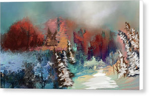 Abstract Fall Landscape Painting - Canvas Print